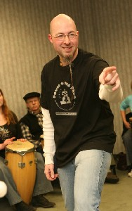 Photo of Dennis in Drum Circle